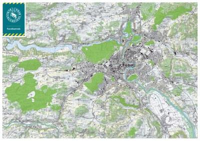 Wald der Burgergemeinde im Raum Bern (Datenquelle Swisstopo)