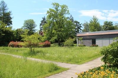 Ein Rundweg führt durch den Garten