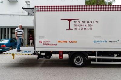 Anlieferung per Lastwagen