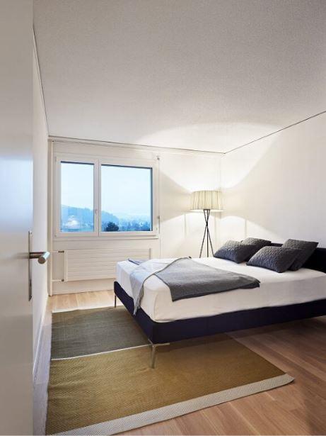 Jupiterstrasse 45, Schlafzimmer Musterwohnung