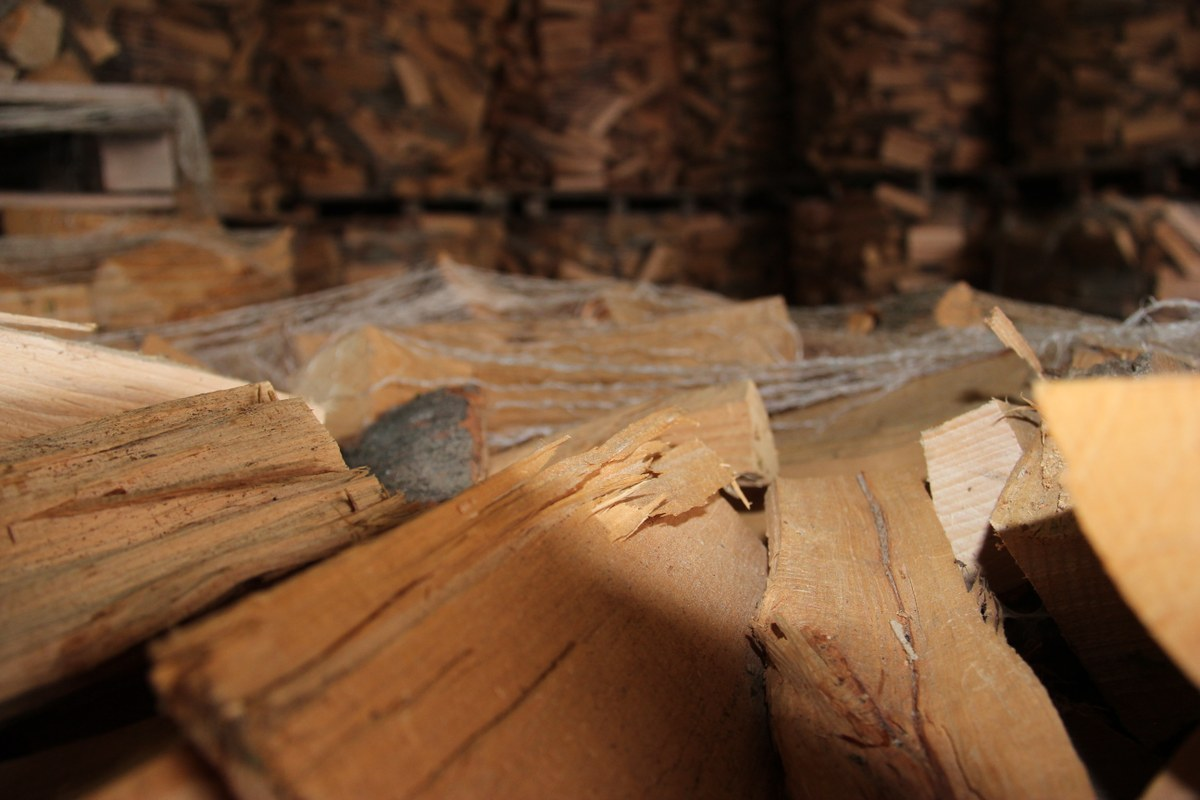 Brennholz. Vergrösserte Ansicht